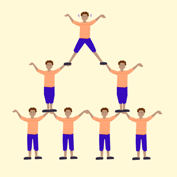 It takes two expii solve consider a different type of 13 level human pyramid in which each person supports at most one person above them and each person is supported by two people voltagebd Images